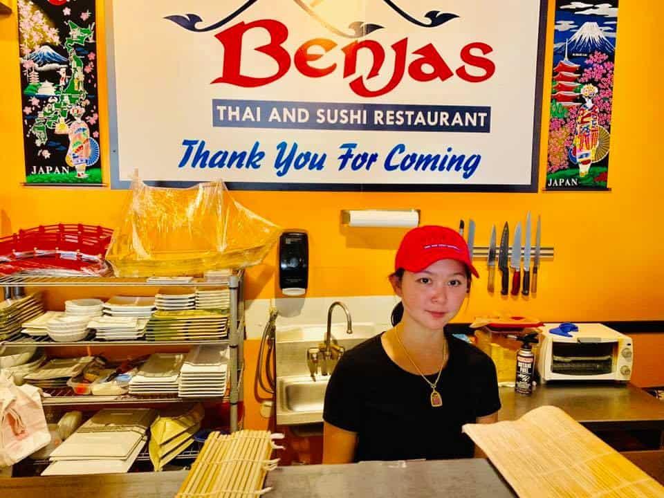 Benja at work